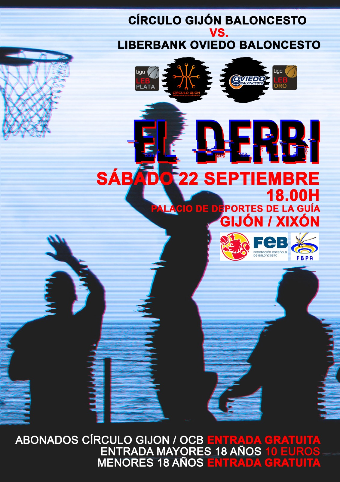 Derbi Círculo Gijón Oviedo Baloncesto 2018